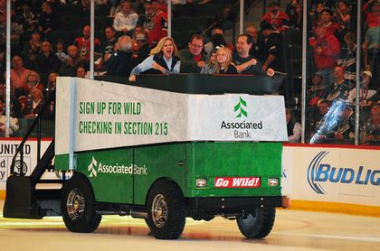 MINNESOTA WILD: Minnesota Wild® fans offered a chance to win a free ride on the Associated Bank Ice Cruiser at all home games