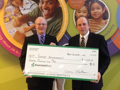 Associated Bank supports financial education with Junior Achievement of Wisconsin