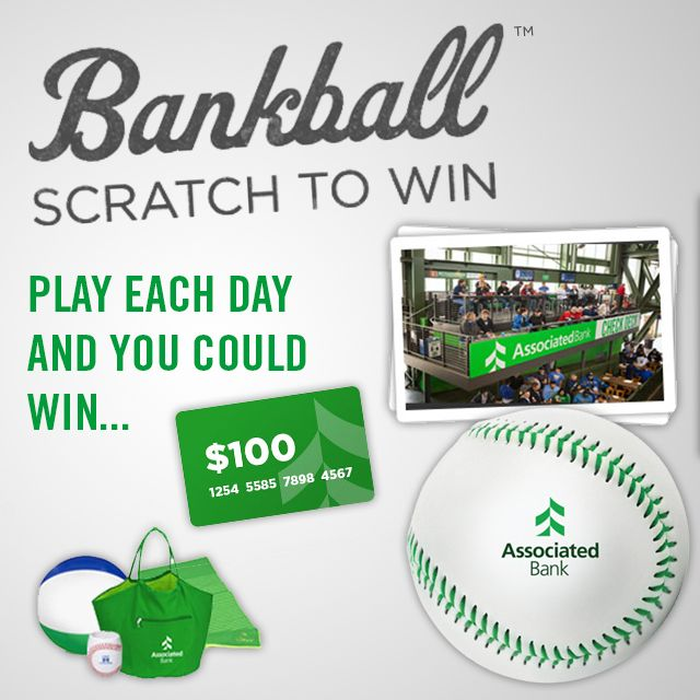 It's game time! Win with Associated Bank's baseball-themed Bankball™ game