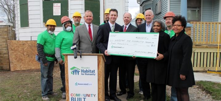 Associated Bank builds partnership with Milwaukee Habitat for Humanity
