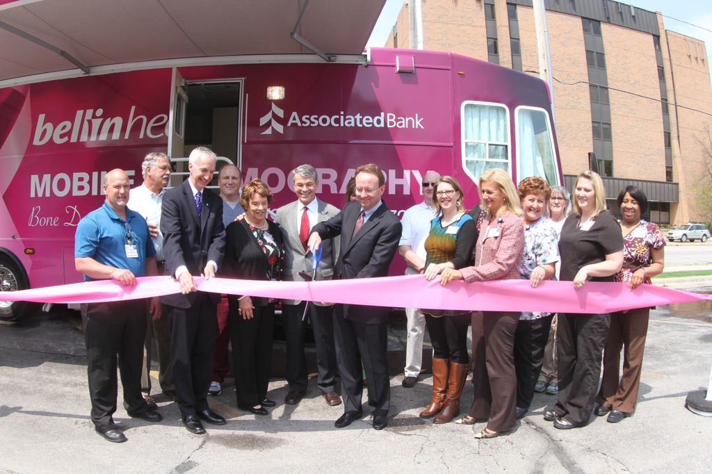 Associated Bank takes part in ribbon cutting for Bellin Health's new Mobile Mammography Unit