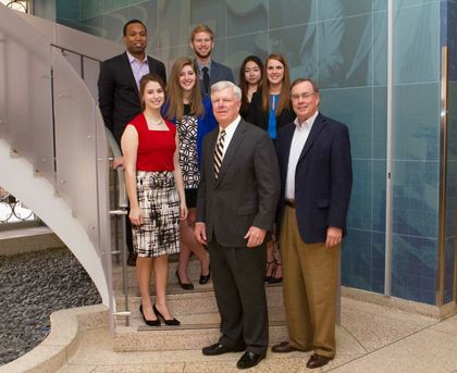 Associated's Breck Hanson speaks to Krannert School of Management's students and Executive Forum