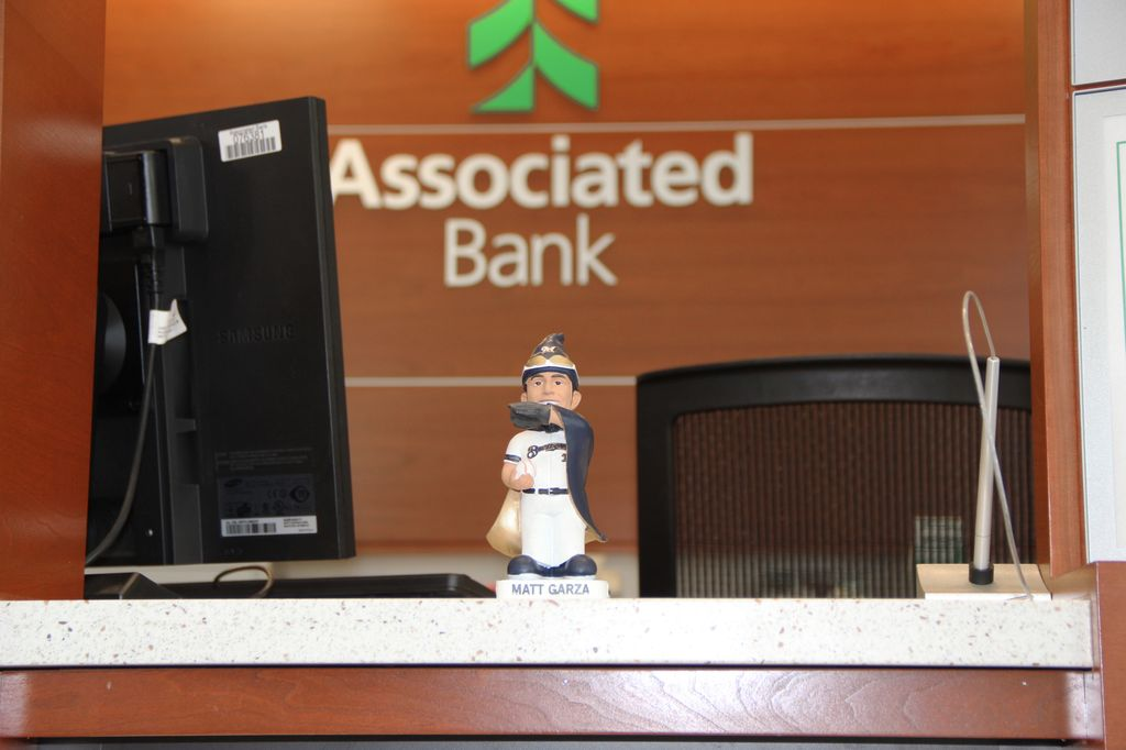 Check in at Associated Bank for the Matt Garza gnome giveaway
