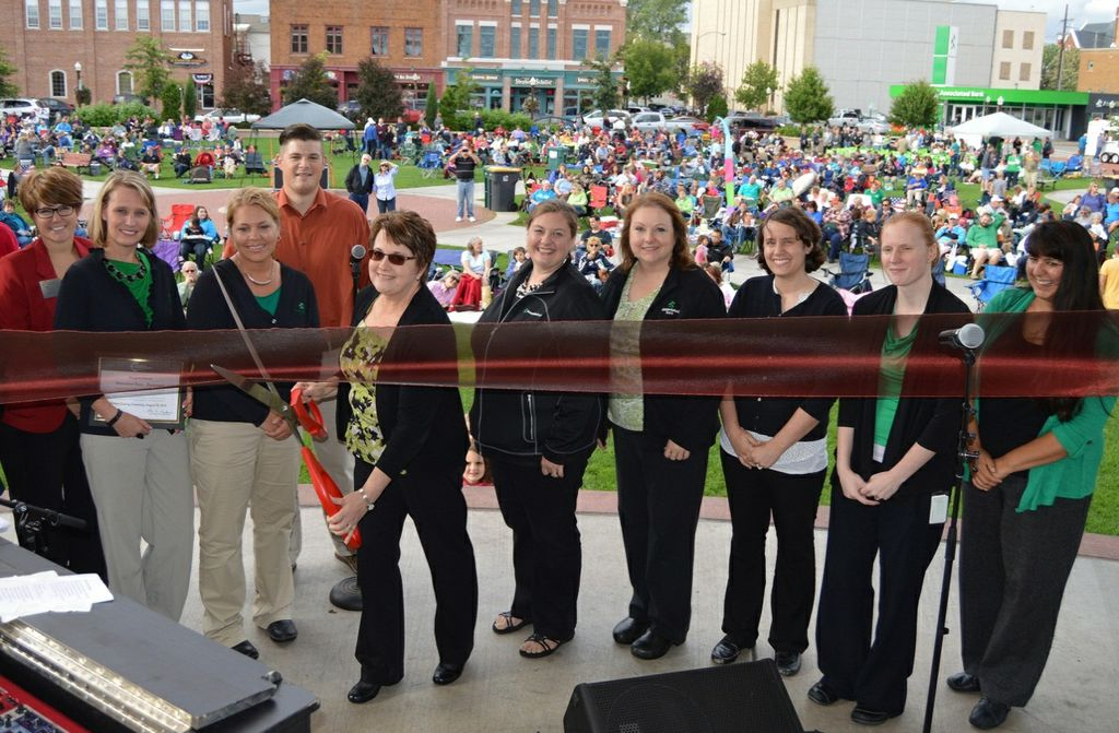 Associated Bank celebrates the grand reopening of its downtown Wausau branch