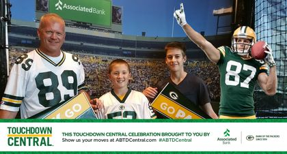GREEN BAY PACKERS: Associated Bank invites fans to capture their 'touchdown celebration' photos with Packers receivers