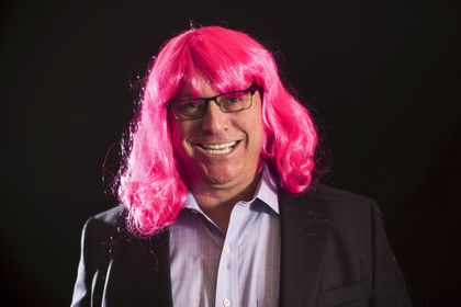 John Utz raises awareness and funds for Susan G. Komen Southeast Wisconsin by participating in BigWig campaign