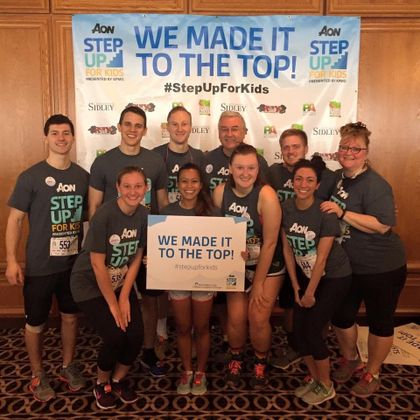 Associated Bank colleagues climb 80 stories to support childrens hospital in Chicago