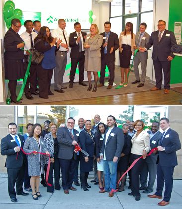 Associated Bank held ribbon cutting events for two new branches  serving emerging markets in Chicago