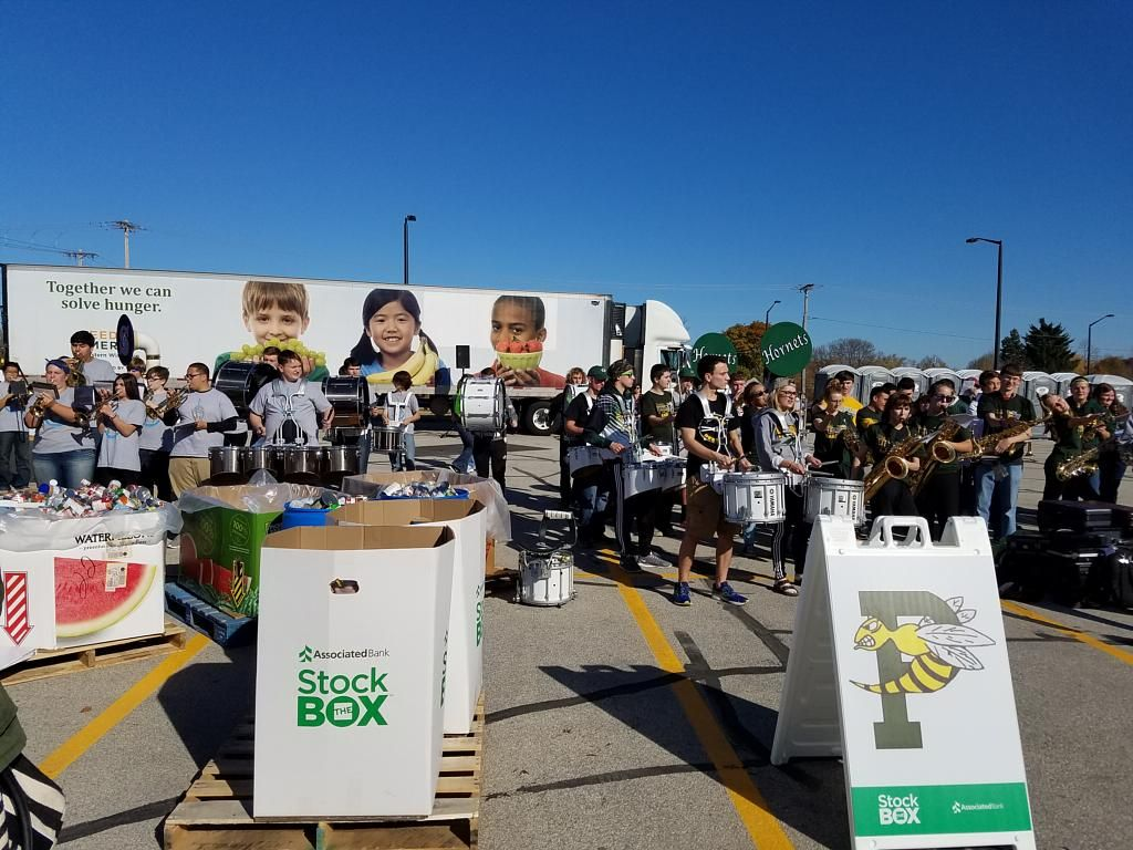 Associated Bank's Stock the Box for Hunger campaign kicked off with Green Bay East, West, Preble and Southwest high schools collecting over 5,000 pounds of food for Feeding America Eastern Wisconsin.