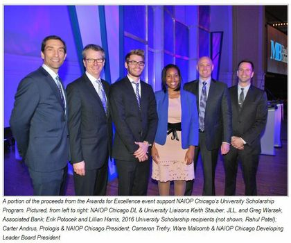 CRE team supports Chicago's NAIOP Chicago's 29th Annual Awards for Excellence