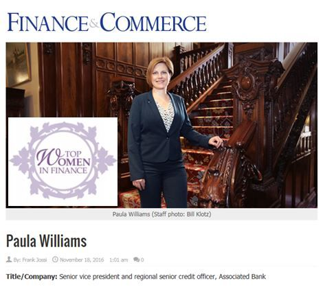 Paula Williams, Top Women in Finance
