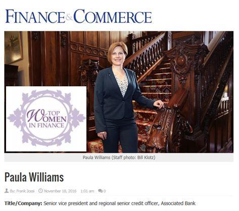 Paula Williams, Top Women in Finance