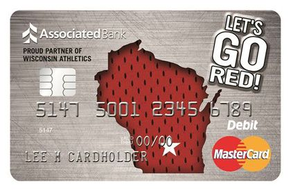 "WISCONSIN BADGERS: Associated Bank's new ""Let's Go Red"" Debit Mastercard® is a slam dunk!"