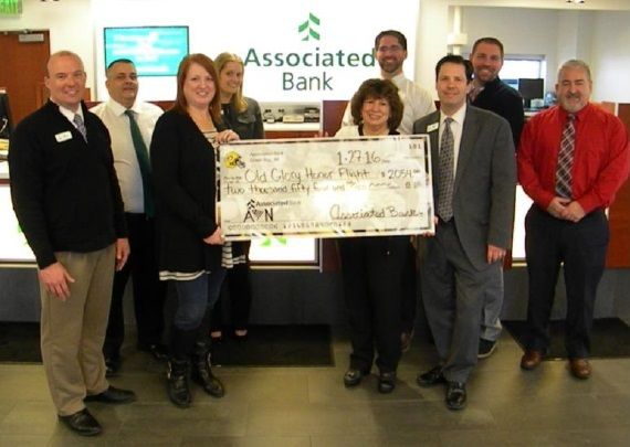 Associated Bank raises donations for Old Glory Honor Flights