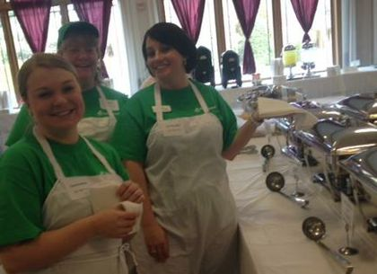 Associated Bank colleagues in Eau Claire fill bowls at record-breaking Empty Bowls event