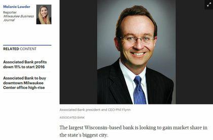 Associated Bank looks to nab more of Milwaukee market
