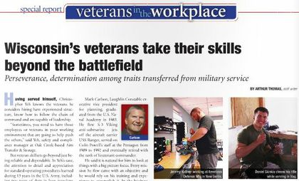 Wisconsin's veterans take their skills beyond the battlefield