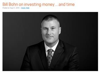 Bill Bohn shares insights about investing as well as time and talent in the community