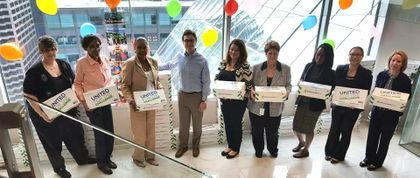 Associated Bank in Chicago provides supplies to Friedman Place during United Way Campaign