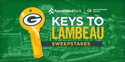 "GREEN BAY PACKERS: Packers fans invited to enter Associated Bank's ""Keys to Lambeau"" Sweepstakes for an exclusive tour of Lambeau Field"