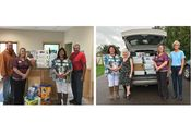 Associated Bank colleagues at the Ashland, Wis. office participate in 2017 United Way Stock The Box™ campaign.