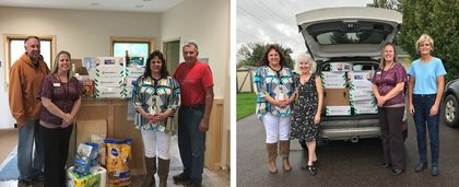 Associated Bank in Ashland provides supplies to two area nonprofit organizations