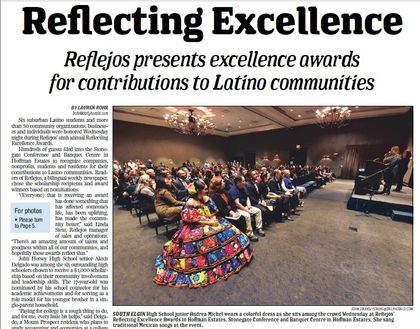 Reflejos presents Excellence Award to Associated Bank