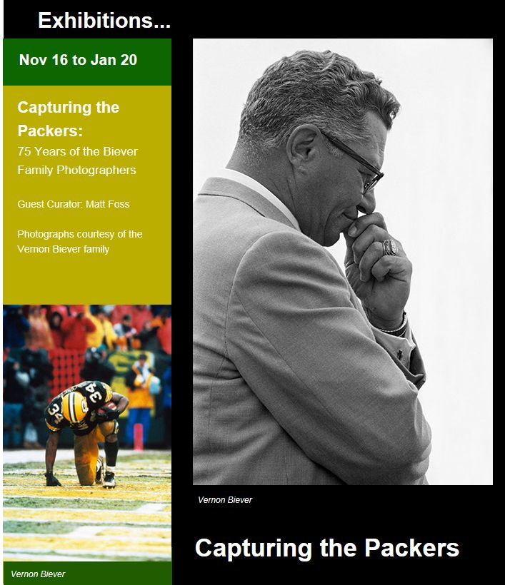 "ArtStart's ""Capturing the Packers"" exhibition showcases 75 Years of  Biever family photographers"