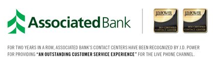 Associated Bank's Contact Centers certified again by J.D. Power