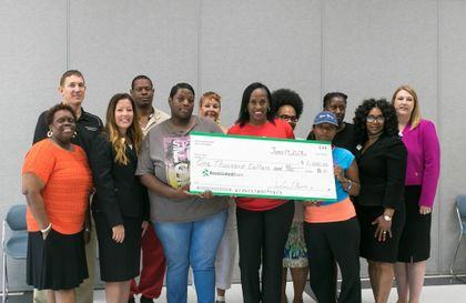 Associated Bank financial literacy courses at the Jackie Joyner-Kersee Head Start Center and donation help SIUE students