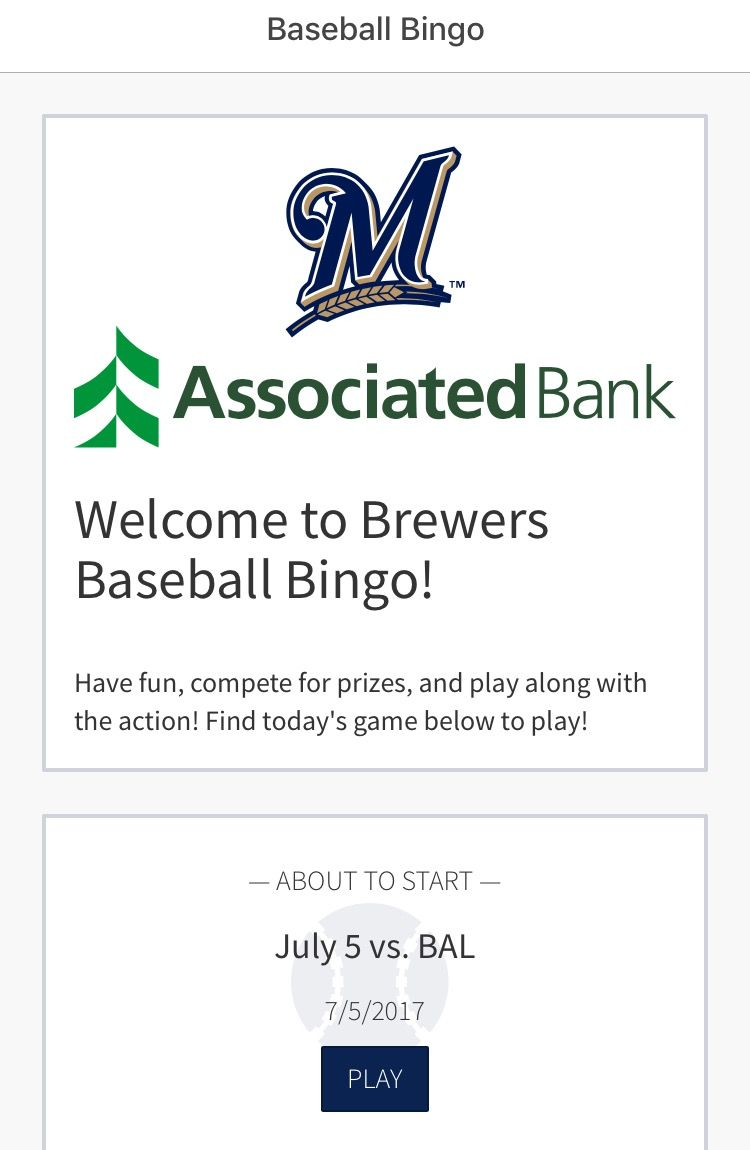 Mobile view of ballpark app