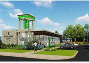 New Lake Geneva branch exterior rendering