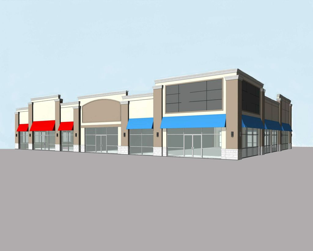 Rendering of Hammond, Ind. retail building