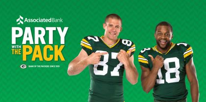 "Jordy Nelson and Randall Cobb invite fans to ""Get Closer to the Packers"" with Associated Bank"