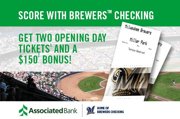 Through February 10, fans opening a Brewers Checking account will score more.