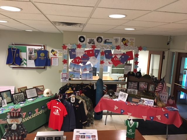 Associated Bank Neillsville's veterans display