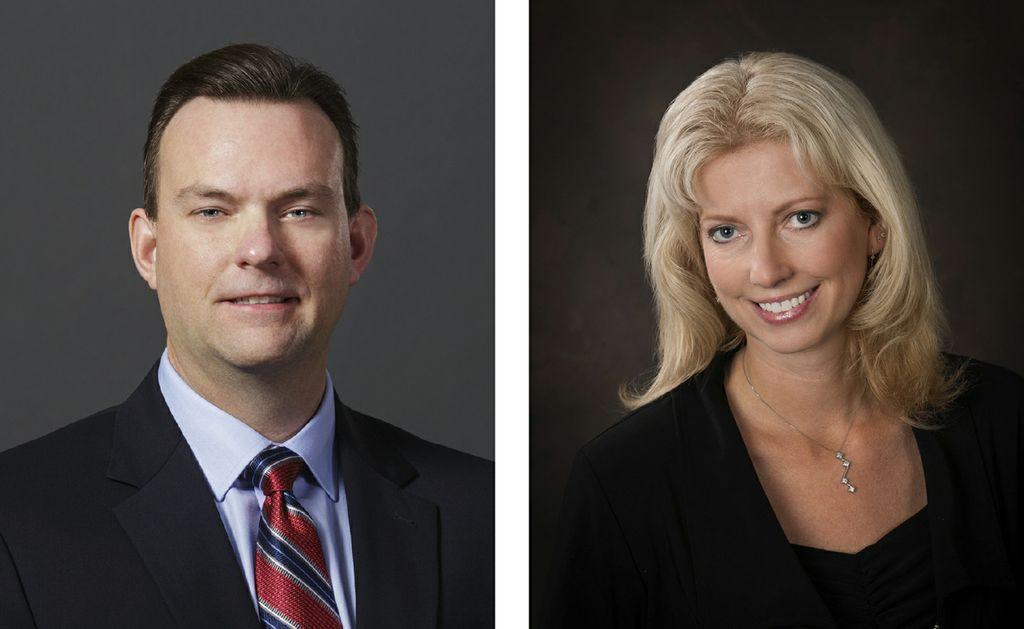 Matthew Braeger (left) and Nicole Kitowski