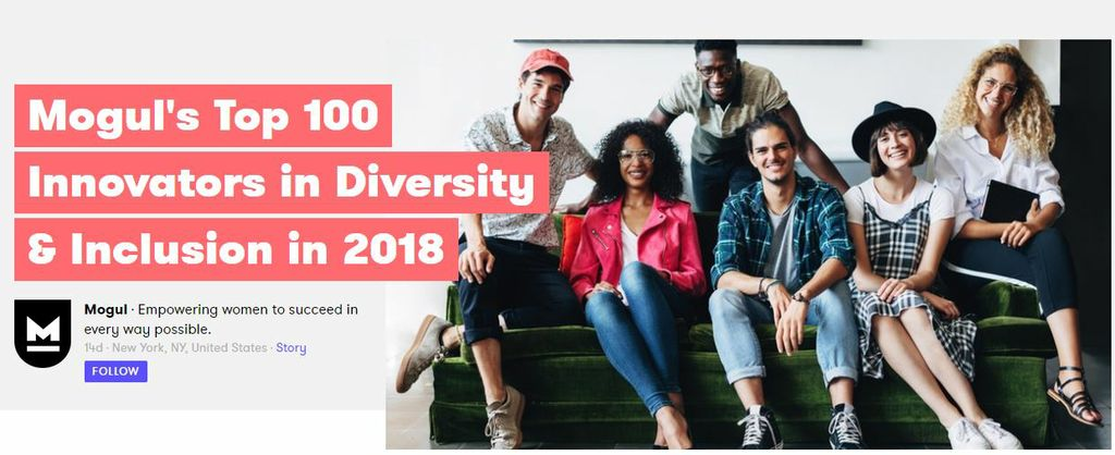 Mogul's Top 100 Innovators in Diversity & Inclusion in 2018