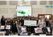 Green Bay West High School students received a $2,000 grant to their music program and were surprised with a check presentation made by representatives from Associated Bank and the Green Bay Area School District in their band class on November 1.
