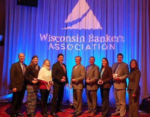 Bankers recognized at WBA Bank Executive Conference
