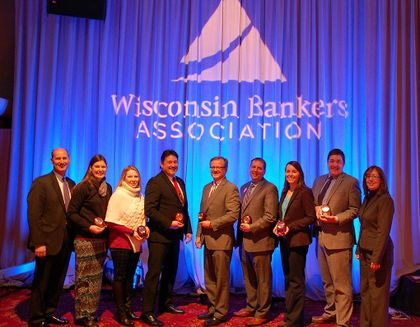Jason Wilke recognized for leadership and service to the industry by the Wisconsin Bankers Association