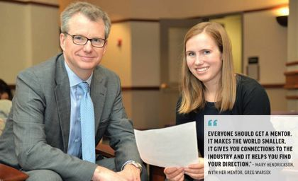 Greg Warsek featured in DePaul University's Business Exchange: Mentors Help Graduates Turn Dreams into Reality