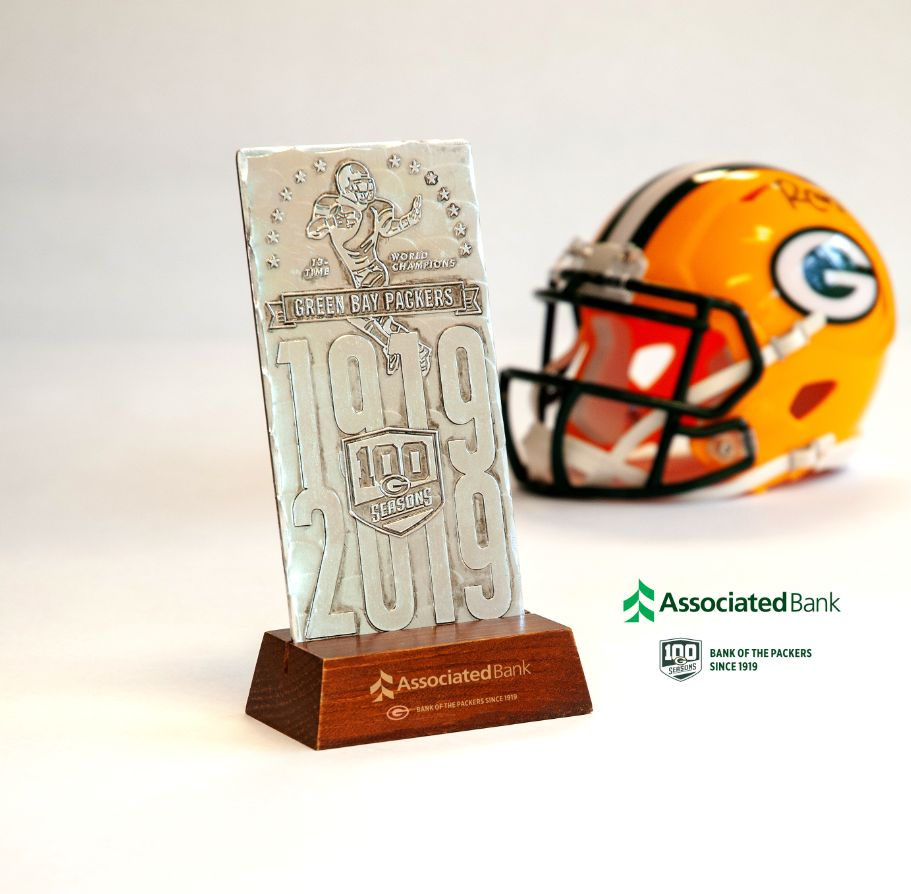 New customers who open a Packers checking account in branch or online will receive a limited edition 100 Seasons Packers Legacy Ticket.
