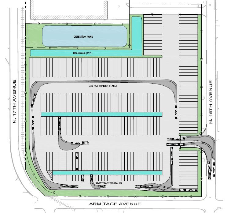 Melrose Park truck facility site plan