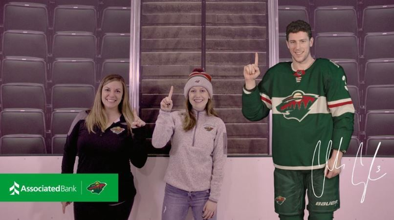 Fans will have opportunity to virtually interact with Charlie Coyle, Jason Zucker or Nordy then receive a digital image of their interaction.