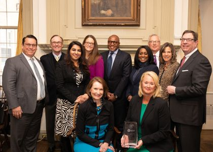 Associated Bank is recognized by Milwaukee Women inc and the Greater Milwaukee Committee with the Mary Ellen Stanek Award
