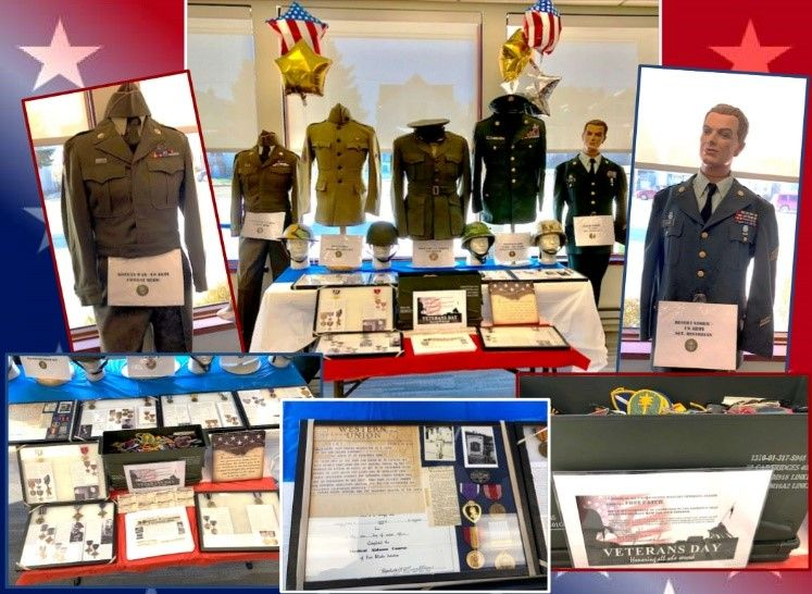 The veterans display at the South Milwaukee branch
