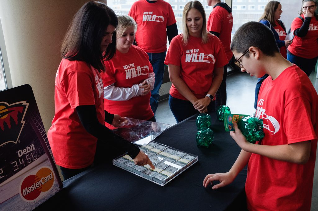 Students at the event received Associated Bank piggy banks and participated in a number of financial education activities with the help of Associated Bank volunteers.