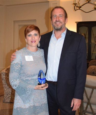 Trisha McConkey and her husband, John McConkey, at the HBA Awards Program.