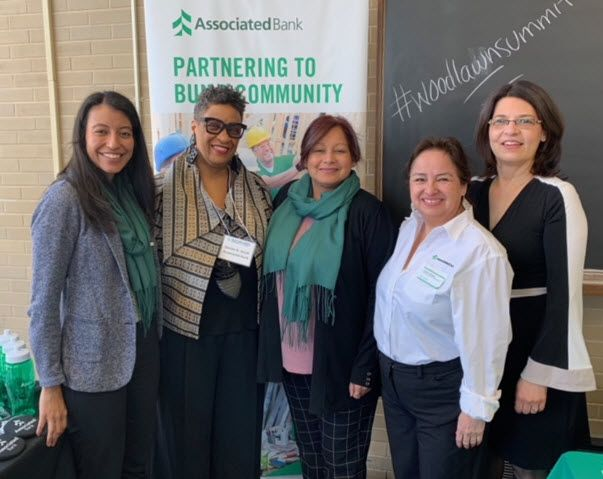 Associated Bank colleagues (from left to right) at the Summit: Jeannette Vigil, Denise N. Smith, Diana Torres, Connie Gallegos and Yolanda Frontany.